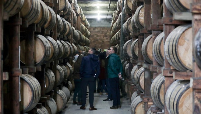 Danny Wimmer, along with his family, partners and crew, tour Buffalo Trace Distillery.   