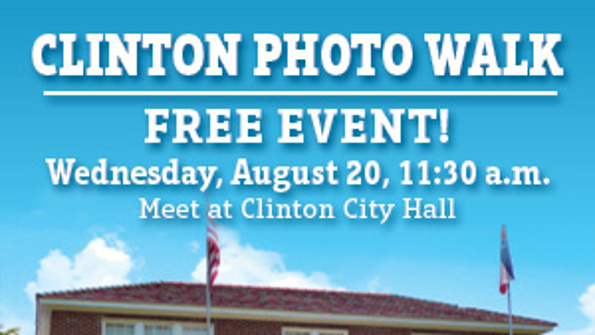 The Clarion-Ledger invites you to a free photo walk on Wednesday, August 20. Meet at Clinton City Hall at 11:30am