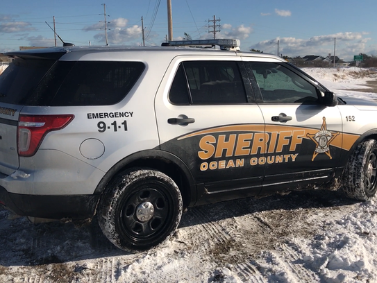 A Ford Explorer in the fleet of the Ocean County Sheriff's