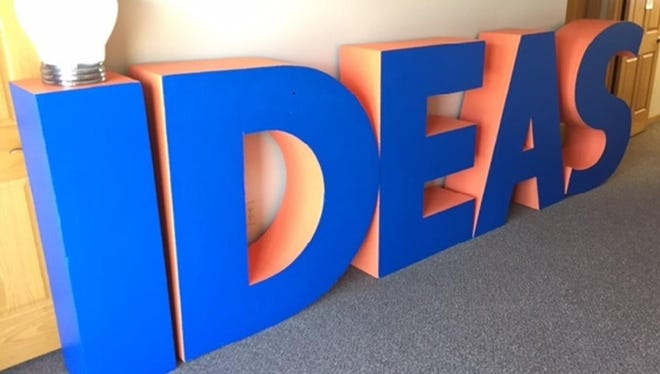 These large foam letters will be hidden at various Fond du Lac businesses as part of the IGNITE! Business Success I-Spy event.