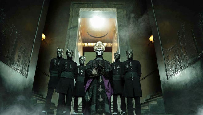 Ghost, a metal band from Sweden, cloaks itself in mystery. Its singer goes by the stage name Papa Emeritus III, and the other musicians are known only as Nameless Ghouls.  The band opens for Iron Maiden at the Prudential Center on Wednesday night.