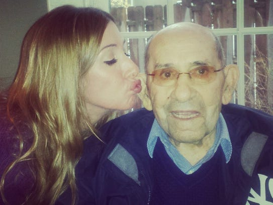 Lindsay Berra, the oldest of Yogi Berra's 11 grandchildren,