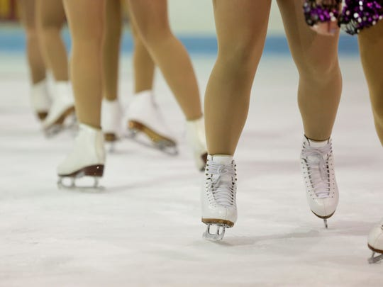 Members of the Port Huron Figure Skating Club practice for their upcoming show Friday. The show, Ice Fantasies 2015: Storybook Heroes, will be March 7 at McMorran Arena.