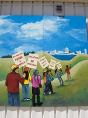 A mural outside of Centro Hispano, a Latino community center in Madison, captures the unrest of young Latinos — a generation calling for policies including immigration reform. Latino-oriented get-out-the-vote campaigns often aim to channel the potential of these young voters, who make up much of the Hispanic electorate.
