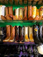 The wide selection of boots available at Novedades La Chiquita in Abbotsford, Wisconsin.