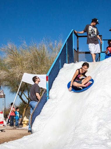 The Feb. 3 Great Canadian Picnic at South Mountain Park includes several snow games, including a slide.