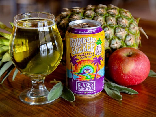 Blake's Hard Cider's Rainbow Seeker will return next month.