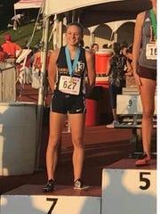 Jenna Barker, a senior at Seton Catholic, finished
