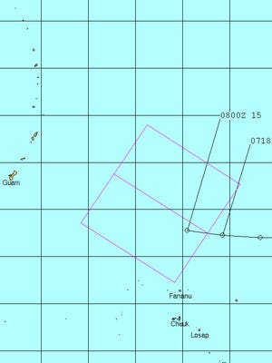 A disturbance east of Guam became subject to a tropical cyclone formation alert Friday afternoon, Sept. 8, 2017.