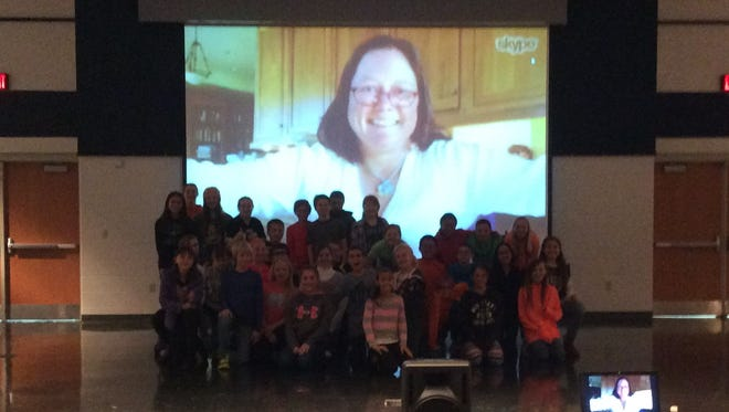 """The Mock Newbery Reading Group meets author Kimberly Brubaker Bradley via Skype. The group chose her book, """"The War that Saved My Life,"""" as its favorite."""