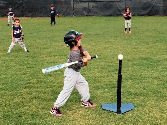 Danny Udero/Sun-News   T-Ball action is being played at the Ben Altamirano Sports Complex in the United States Specialty Sports Association. Closing ceremonies is scheduled for July 11.