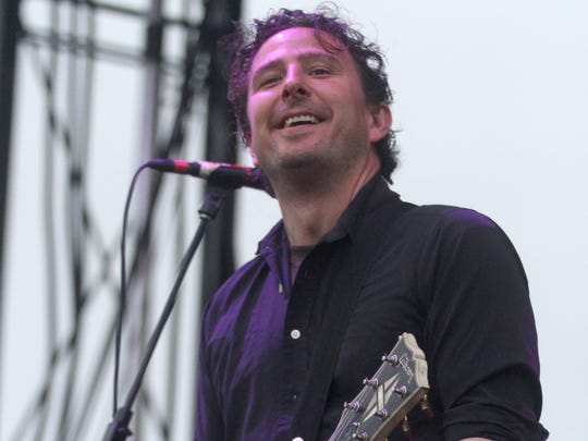 Guitarist Pete Steinkopf on stage during the 2012 Bamboozle festival in Asbury Park.