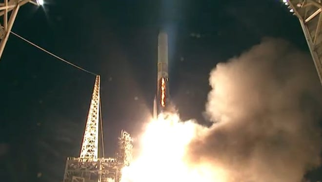 A United Launch Alliance Delta IV rocket blasted off from Vandenberg Air Force Base at 6:40 a.m. EST Wednesday with a National Reconnaissance Office mission.