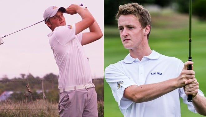 Harry Wetton, left, and Ross White each took home Srixon/Cleveland Golf All-American honors.