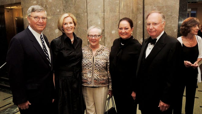 Lee and Mary Barfield, left, Barbara Bovender, and Jean and Denny Bottorff at the 2017 Frist Gala Patron Party held at the Frist Center for the Visual Arts.