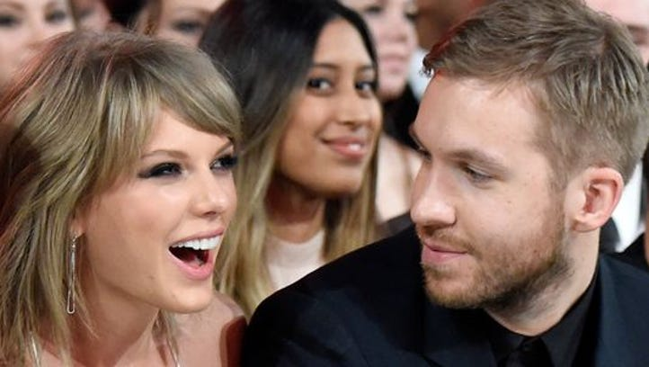 Calvin Harris, seen here with girflfriend Taylor Swift, is resting up after being involved in a car accident Friday.