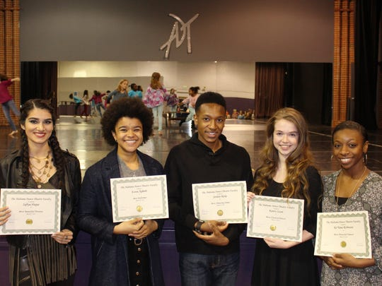 Alabama Dance Theatre graduation seniors, from left,