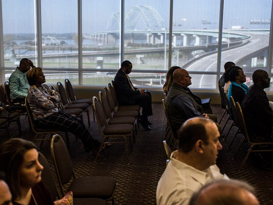 """November 14, 2017 - Contractors listen during the """"A Seat at the Table Memphis Convention Center Transformation"""" meeting held by the City of Memphis office of business diversity and compliance. The meeting was held to unveil plans for a $100 million upgrade of the Memphis Cook Convention Center to minority contractors in an effort to increase minority business participation."""