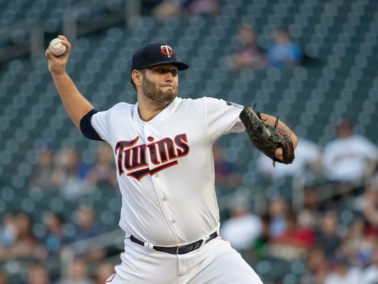 Minnesota Twins starting pitcher Lance Lynn
