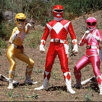 """Characters from """"Mighty Morphin Power Rangers"""" kids tv show."""