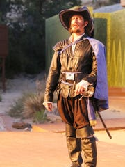 "Steve Clark portrays Aramis in the Theater Ensemble Arts production of ""The Three Musketeers."""