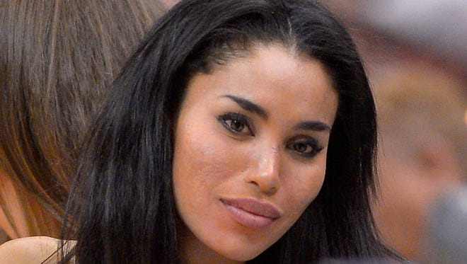 V. Stiviano was in New York City for an interview with CNN's Anderson Cooper, although the network canceled it.