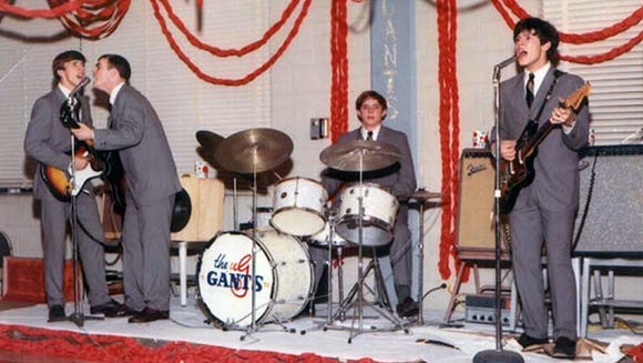 Looking a lot like the Beatles, The Gants perform a