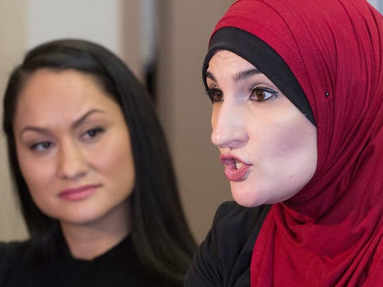 Carmen Perez, left, and Linda Sarsour, co-chairs of