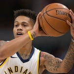 Pacers guard Joe Young's high school jersey is retired