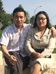 Stephen Kim, shown here with his wife Ester, was killed April 21, 2017.