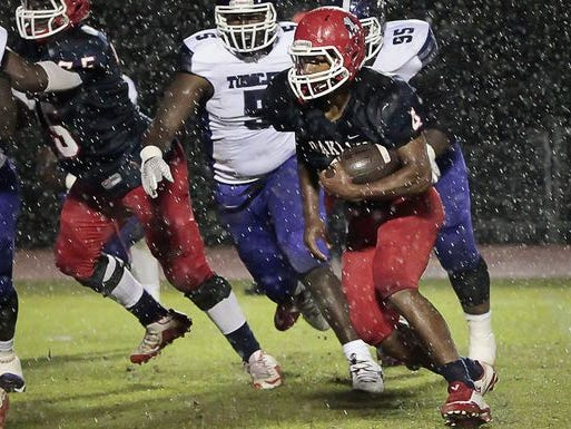 Lazarius Patterson and the Patriots piled up close to 300 yards rushing in Friday's win.