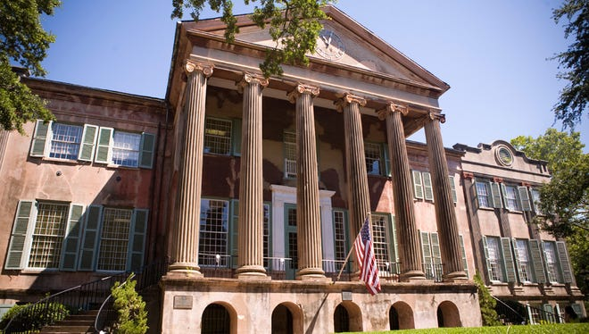 Randolph Hall on the campus of the College of Charleston in South Carolina.