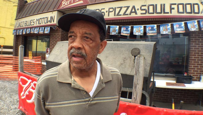 Bert Dearing says his namesake rib joint across Russell Street from Detroit's Eastern Market will stay open despite the building going on the auction block in July. Dearing said he fell behind on mortgage payments after a rough winter slowed business, and he had open-heart surgery.