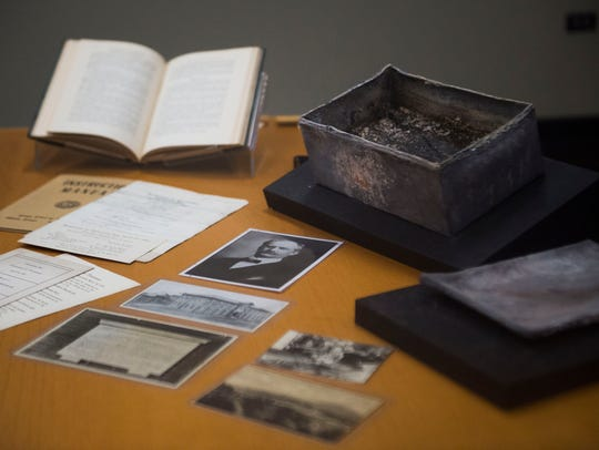 Duplicate contents of a 112-year-old time capsule from
