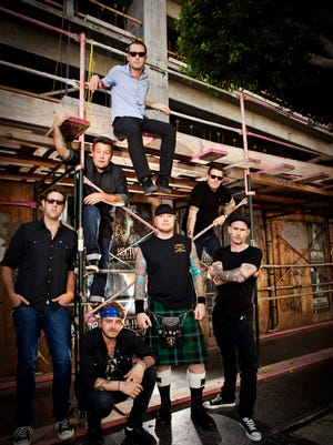 The Dropkick Murphys in 2013. On Monday night, the band gave an impromptu show at Boston's Logan Airport.