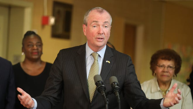 Governor Phil Murphy during a press conference as he talks about the budget impasse.