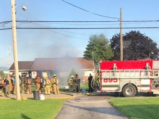 Fire destroyed this home in the 4300 block of Board Road in East Manchester Twp. on Thursday, Aug. 10, 2017, said Assistant Fire Chief Tim Stevens from Union Fire Co. (Photo courtesy of Pamela Ellis)