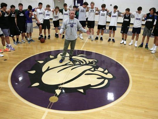 Rumson-Fair Haven boys basketball coach Chris Champeau,