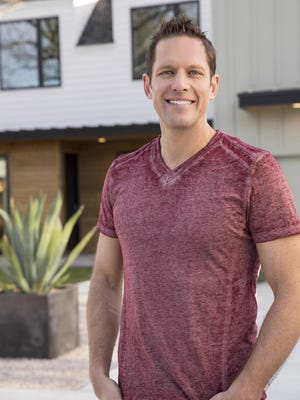 Host Chris Lambton in front of the HGTV Smart Home 2015 located in Austin, TX.