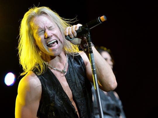 """Warrant lead singer Robert Mason will belt out such hits as """"Cherry Pie,"""" """"Uncle Tom's Cabin"""" and """"Heaven"""" when the band joins REO Speedwagon and 38 Special March 11 at the Resch Center."""