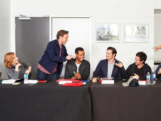 "The cast of ""It Chapter Two"" at a script read. From"