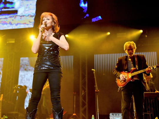 Reba McEntire performs as part of the Country Rising