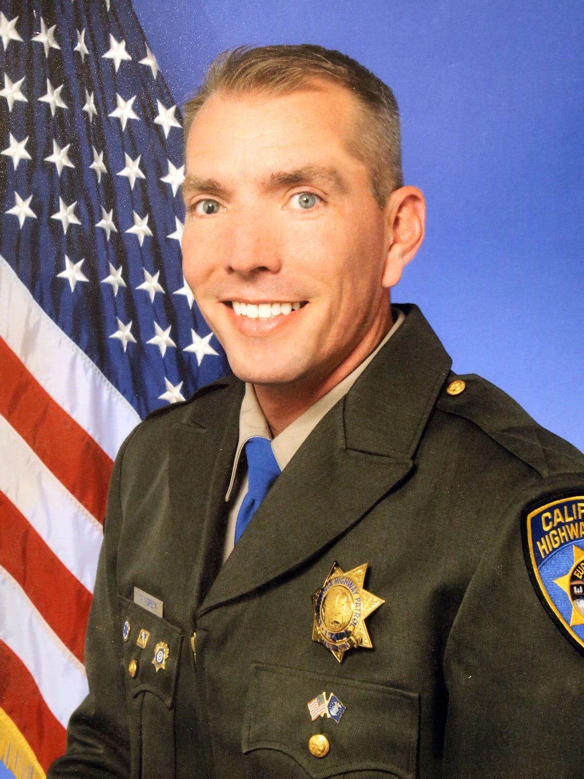 Officer Dane Norem, California Highway Patrol portrait