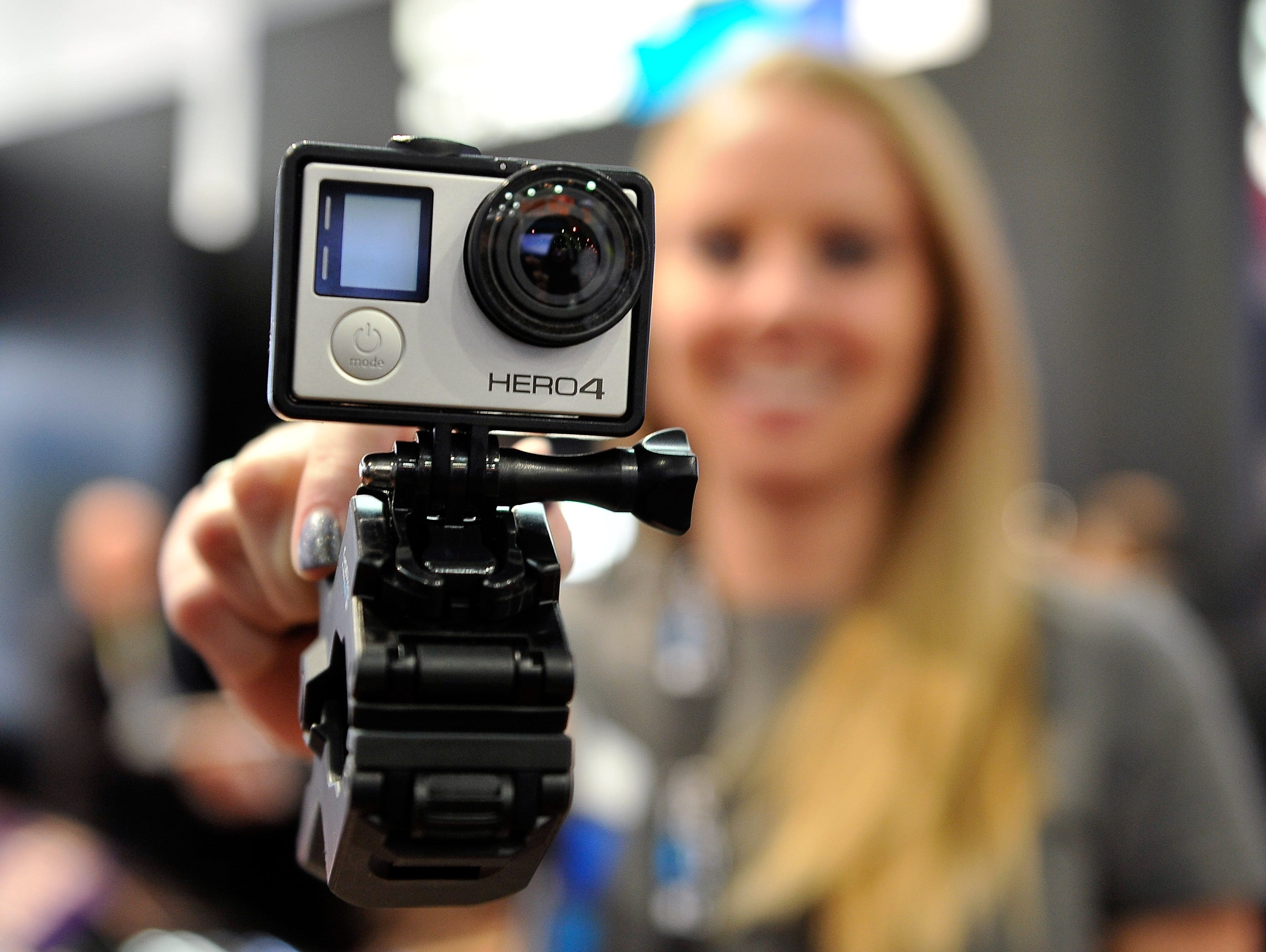A GoPro Hero 4 camera is displayed at the 2015 International CES at the Las Vegas Convention Center on January 6, 2015 ,in Las Vegas.