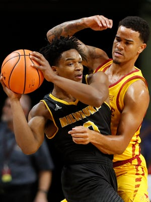 UWM guard Bryce Barnes helped lead the Panthers to a victory over Iowa State on the road.