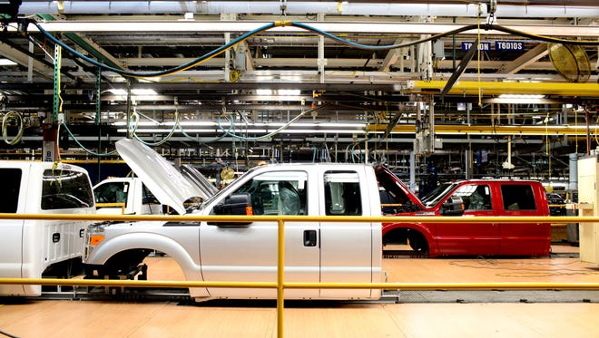 Ford Motor Co.'s Kentucky Truck Plant is one place where stamped parts are assembled on F-Series trucks and SUV's.