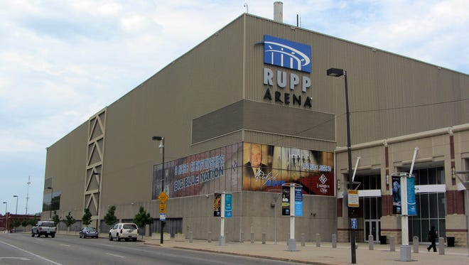 Rupp Arena in downtown Lexington. (By James Crisp, Special to the Courier-Journal) May 26, 2012
