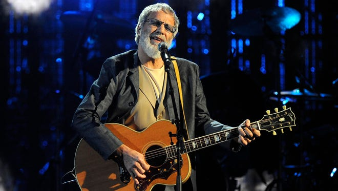 Hall of Fame Inductee Cat Stevens performs at the 2014 Rock and Roll Hall of Fame Induction Ceremony in New York on April 10, 2014. Stevens is canceling his New York performance just weeks after announcing a six-city tour. Stevens said on his Facebook page Wednesday, Sept. 24, 2014, that he would not keep the New York engagement because its requirement for paper tickets has led to exorbitant resale prices.