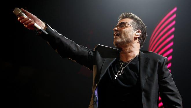 Singer George Michael performs on June 17, 2008 in San Diego, Calif.
