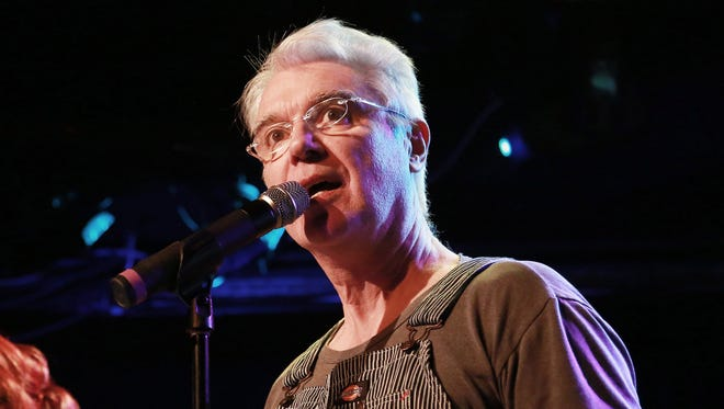 David Byrne attends Artists' Pay For Radio Play at Le Poisson Rouge on Feb. 25 in New York City.